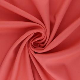 Plain gabardine bamboo fabric - coral x 10 cm