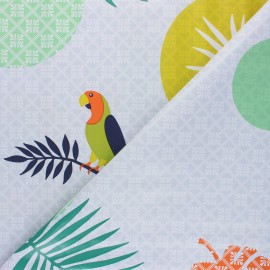 Oilcloth fabric - grey Jacquot x 50cm