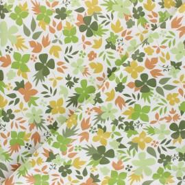 Oilcloth fabric - green Printemps  x 10cm