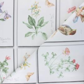 Tissu toile cirée Fragrance - blanc cassé x 18cm
