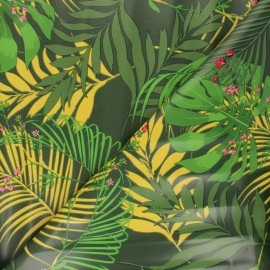 Oilcloth fabric - green Jauphil x 10cm