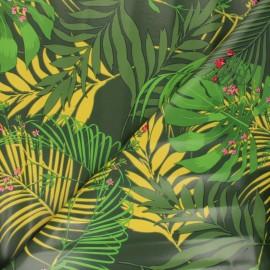 Tissu toile cirée Jauphil - vert x 10cm