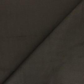 Suede elastane fabric - dark khaki green Greta x 10cm