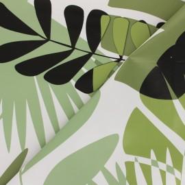 Tissu toile cirée Fidji - vert x 10cm
