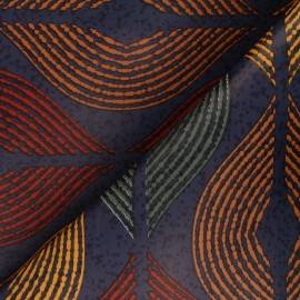 Tissu toile cirée Bulgomme Chen - bleu x 10cm