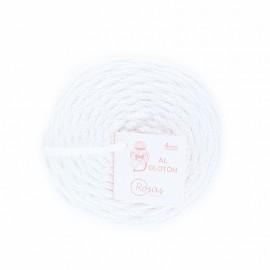 Cordon recyclé 4 mm - blanc