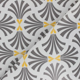 Oilcloth fabric with table protector reverse - grey Borek x 10cm