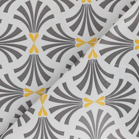 Tissu toile cirée Bulgomme Borek - gris x 10cm