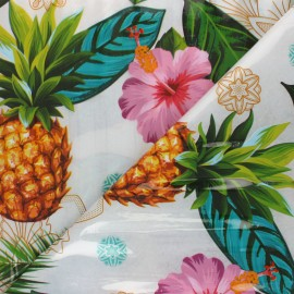 15 gauge clear vinyl fabric - multicolor Tropicalo x 50cm