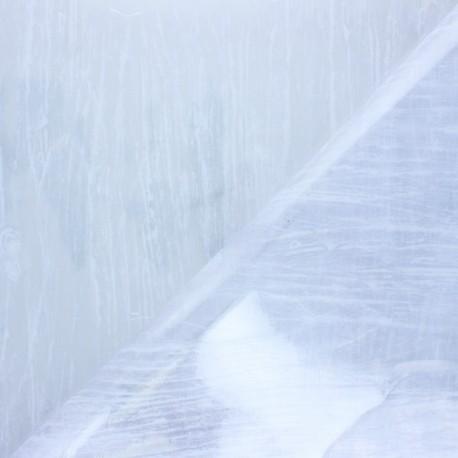 Cristal transparent 15/100 Ecorce - blanc x 10cm