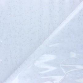 15 gauge clear vinyl fabric - white Nica x 50cm