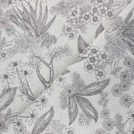 Tissu polycoton enduit mat Pardo - grège x 10cm