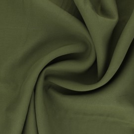 Tissu Tencel sergé uni Utopia - vert olive x 10cm