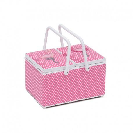 Boite à Couture Panier - Flamingo