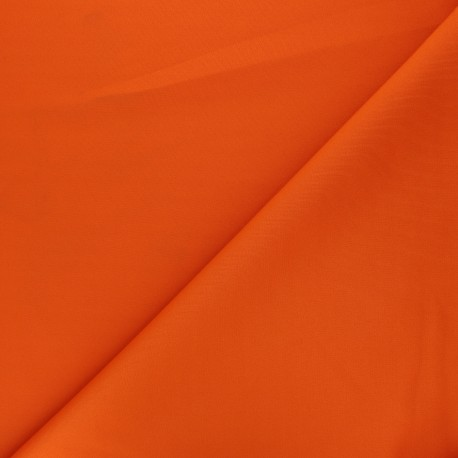 Plain Milano double jersey fabric - orange x 10cm