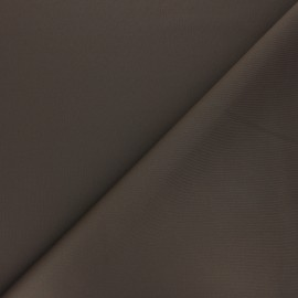 Plain Milano double jersey fabric - brown x 10cm