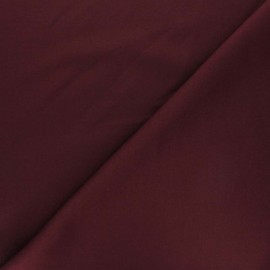 Plain Milano double jersey fabric - purple red x 10cm