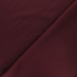 Tissu double Jersey Milano uni - lie de vin x 10cm