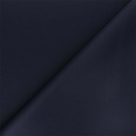 Plain Milano double jersey fabric - navy blue x 10cm