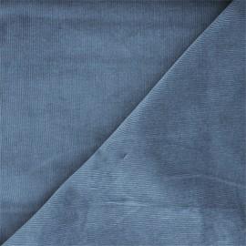 Tissu velours milleraies washé Infinité - bleu x 10cm