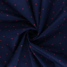 Poplin Poppy cotton fabric - navy blue You're a Sweetheart B x 10cm