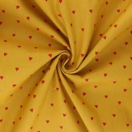 Poplin Poppy cotton fabric - mustard You're a Sweetheart B x 10cm