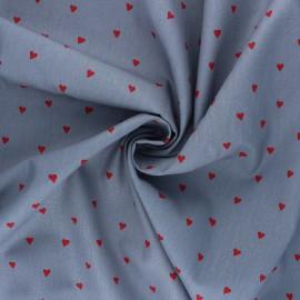 Poplin Poppy cotton fabric - grey You're a Sweetheart B x 10cm