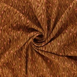 Radiance By Penelope® Viscose fabric - ochre Imaé x10 cm
