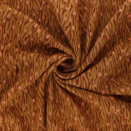 Radiance By Penelope® Viscose fabric - ochre Imaé x 10cm