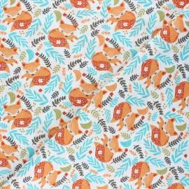 Tissu coton cretonne Mia la renarde - roux x 10cm