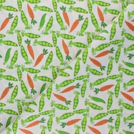 Tissu coton cretonne Barboton - vert x 10cm