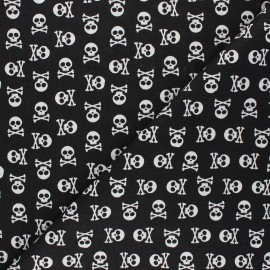 Cretonne cotton fabric - black Albator x 10cm