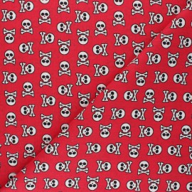 Cretonne cotton fabric - red Albator x 10cm