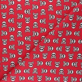 Tissu coton cretonne Albator - rouge x 10cm