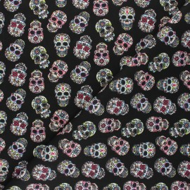 Cretonne cotton fabric - black Angelica x 10cm