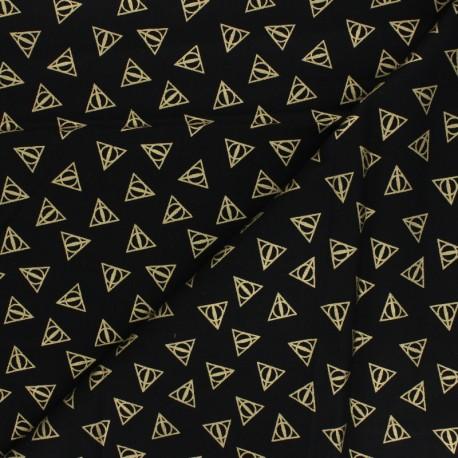 Harry Potter cotton fabric - black Deathly hallows x 10cm
