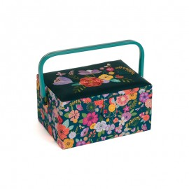 Medium Size Embroidered Sewing Box - Folkflowers