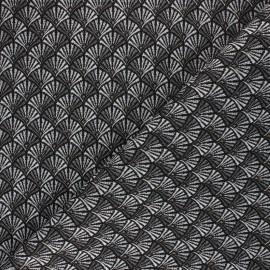 Jacquard fabric - silver Arcadia x 10cm