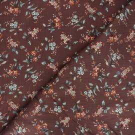 Tissu velours milleraies élasthanne Isaline - marron x 10cm