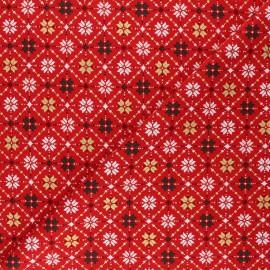 Cotton fabric - red Christmas vibe x 10cm