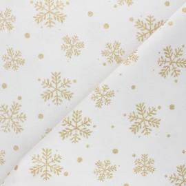 Tissu coton Glitter flakes - écru x 10cm