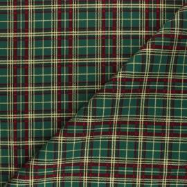 Tissu coton Holly check - vert x 10cm