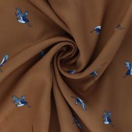 Tissu viscose Envolée - camel x 10cm
