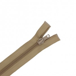 Pack of 10 separating zips ECLAIR 6 mm - beige