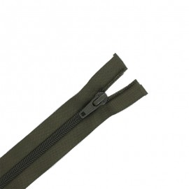 Pack of 10 separating zips ECLAIR 6 mm - dark khaki