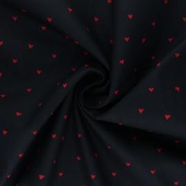 Tissu popeline de coton Poppy You're a Sweetheart B - noir x 10cm