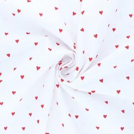 Tissu popeline de coton Poppy You're a Sweetheart B - blanc x 10cm