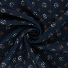 Tissu viscose Naïm - bleu marine x 10cm