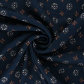 Viscose Fabric - navy blue Naim x 10cm