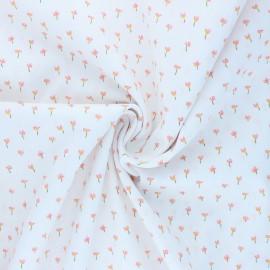 Tissu coton Popeline Poppy Flower C - blanc x 10cm